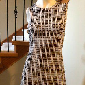 Theory Blk/White sleeveless knit dress sz L - EUC